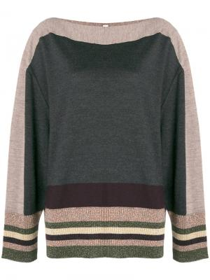 Stripe detail sweater Antonio Marras. Цвет: серый