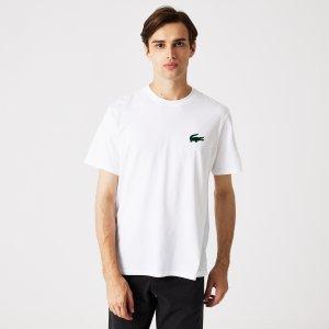 Нижнее белье и шорты Домашняя футболка Lacoste. Цвет: белый