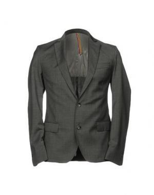Пиджак LOW BRAND. Цвет: серый