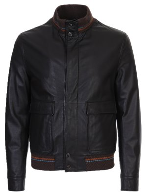 Утепленная куртка из кожи ETRO