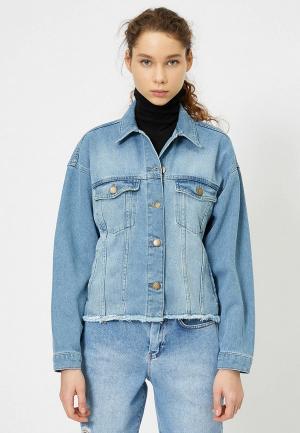 Куртка джинсовая Koton. Цвет: голубой