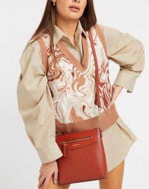 Красная сумка через плечо Ashley-Коричневый Fiorelli