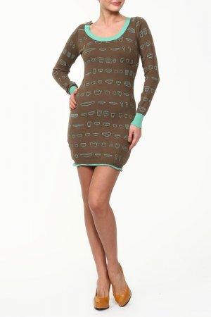 Платье GINGER+SOUL. Цвет: коричневый