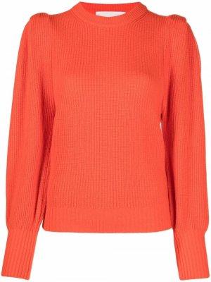 Ruched-detail sweater 8pm. Цвет: оранжевый