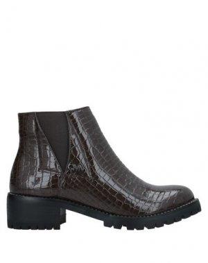 Полусапоги и высокие ботинки GIANMARCO VENTURI. Цвет: темно-коричневый