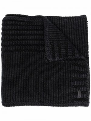 Кашемировый шарф Agneta в рубчик Iris Von Arnim. Цвет: черный