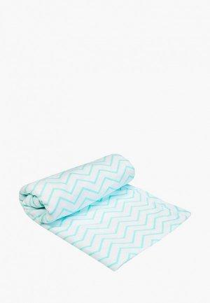 Пеленка Amarobaby Мятный зигзаг. Цвет: белый