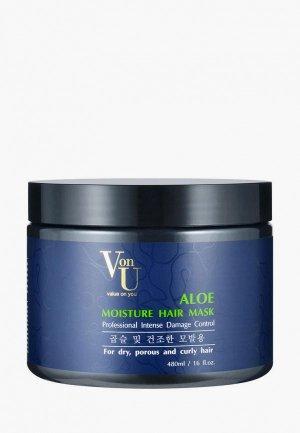Маска для волос Von U Von-U увлажняющая с алое вера. Цвет: белый