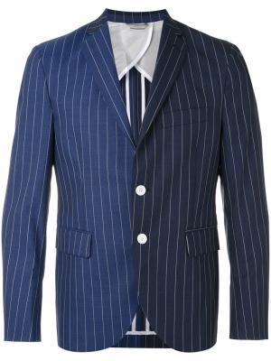 Полосатый пиджак Lc23. Цвет: синий