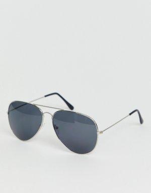 Серые солнцезащитные очки-авиаторы -Серый SVNX