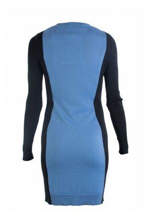 Синее платье с контрастными вставками Love Moschino. Цвет: синий