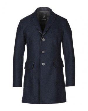 Пальто ERIC HATTON. Цвет: темно-синий