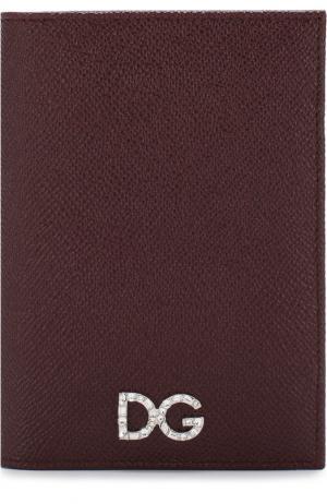 Кожаная обложка для паспорта Dolce & Gabbana. Цвет: красный