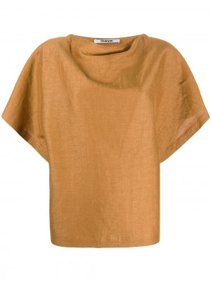 Блузка свободного кроя Chalayan. Цвет: коричневый