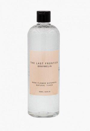 Тонер для лица Graymelin Rose Water Toner с розовой водой, 500 ml. Цвет: прозрачный
