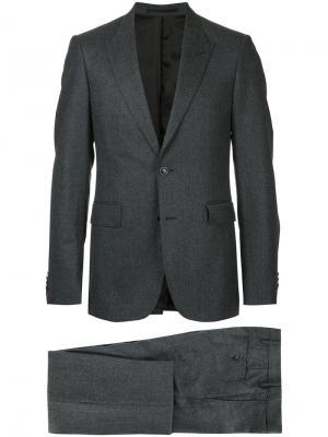 Приталенный деловой костюм Cerruti 1881. Цвет: серый