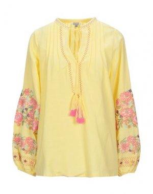 Блузка BRIGITTE BARDOT. Цвет: желтый