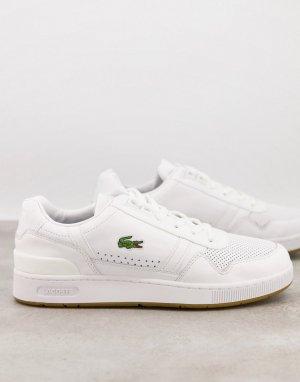 Белые кроссовки T-clip-Белый Lacoste