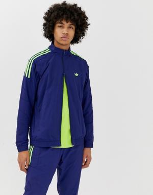 Спортивная куртка Flamestrike adidas Originals. Цвет: синий