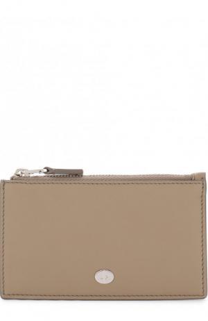 Кожаный футляр для кредитных карт Loro Piana. Цвет: бежевый