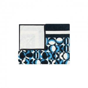 Хлопковое полотенце Dolce & Gabbana. Цвет: синий