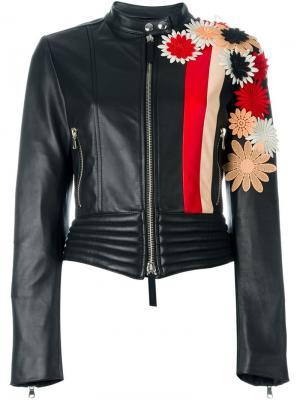 Куртка с цветочной аппликацией Emanuel Ungaro. Цвет: чёрный