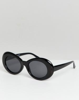 Черные большие круглые солнцезащитные очки inspired Reclaimed Vintage. Цвет: черный