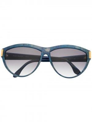 Солнцезащитные очки 1980-х годов Yves Saint Laurent Pre-Owned. Цвет: синий