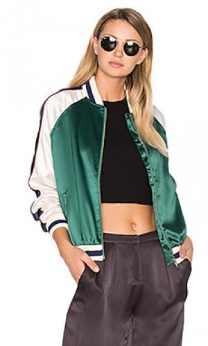 Куртка бомбер the exclusive Lovers + Friends. Цвет: зеленый