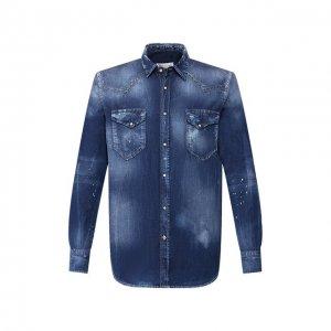 Джинсовая рубашка PREMIUM MOOD DENIM SUPERIOR. Цвет: синий