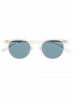 Солнцезащитные очки трапециевидной формы Garrett Leight. Цвет: нейтральные цвета
