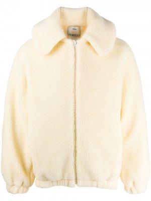 Куртка из шерпы с капюшоном Fiorucci. Цвет: белый