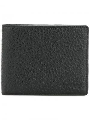 Фактурный бумажник Baldinini. Цвет: черный