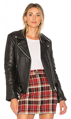 Кожаная байкерская куртка sweet paradise Understated Leather. Цвет: черный