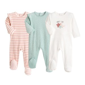 Комплект из 3 пижам LaRedoute. Цвет: розовый
