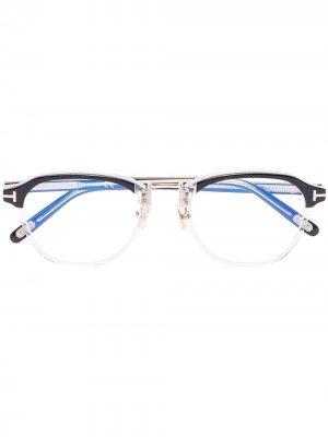 Очки в оправе панто TOM FORD Eyewear. Цвет: черный