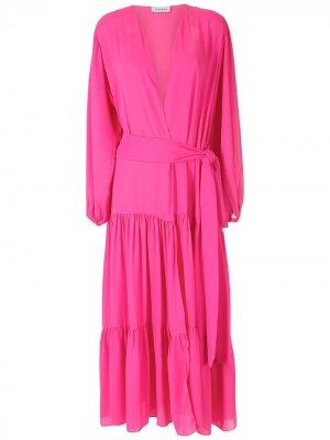 Длинное платье Lourens Olympiah. Цвет: розовый