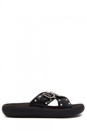 Черные пантолеты Pella Rivets Comfort Ancient Greek Sandals. Цвет: черный