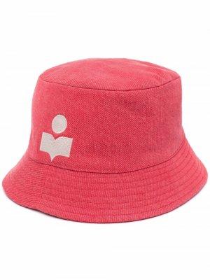 Панама с вышитым логотипом Isabel Marant. Цвет: красный