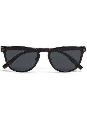 Солнцезащитные очки Leggerissimo в прямоугольной оправе Ermenegildo Zegna. Цвет: черный