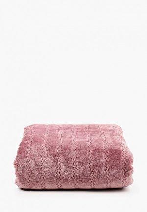 Плед Эго 200х200 см. Цвет: розовый