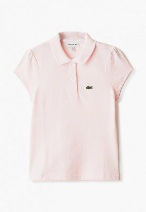 Поло Lacoste. Цвет: розовый