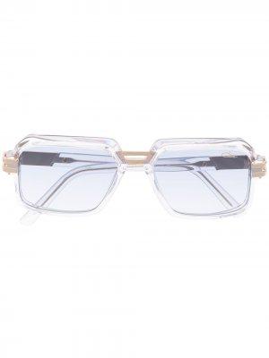 Солнцезащитные очки в квадратной оправе Cazal. Цвет: нейтральные цвета