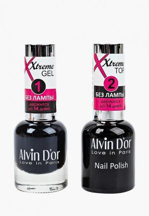 Набор гель-лаков Alvin Dor D'or Гель Xtreme extreme (Лак+Top) 2х15мл.5230 тон MIX 30. Цвет: прозрачный
