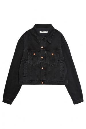 Черная джинсовая куртка Aalto. Цвет: черный