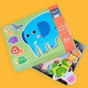 Детская мультяшная лестница-пазл 1 пакет SHEIN. Цвет: многоцветный