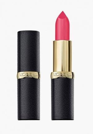 Помада LOreal Paris L'Oreal Color Riche, MatteAddiction, оттенок 101, Дерзкая Фуксия, 4.8 гр. Цвет: розовый