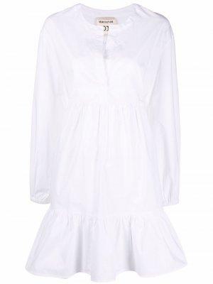 Ярусное платье мини Semicouture. Цвет: белый