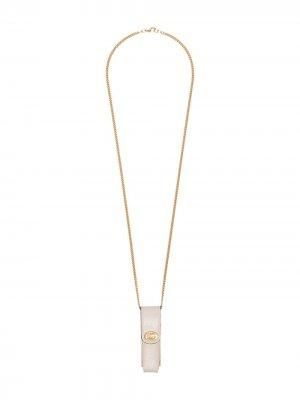 Чехол для зажигалки с логотипом Gucci. Цвет: нейтральные цвета