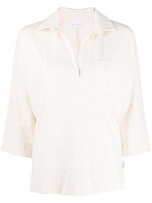 Рубашка поло с рукавами три четверти Max Mara. Цвет: нейтральные цвета